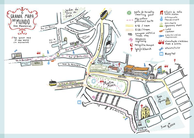 mapa da mouraria lisboa Retalhos da Mouraria   atelier Ideal mapa da mouraria lisboa